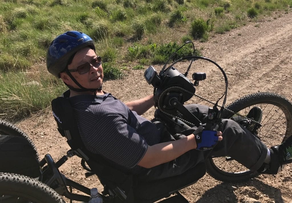 Emil Riding a handcycle